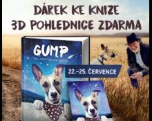 Dárek ke knihám Gump   3D pohlednice