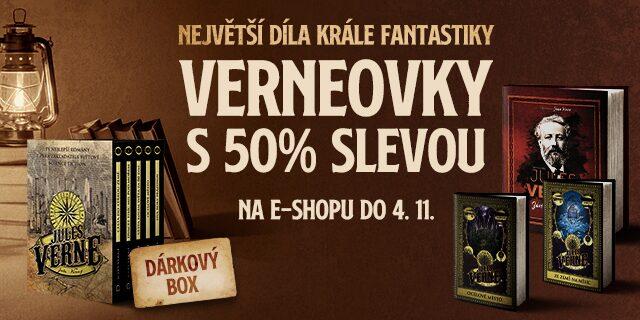 Největší díla krále sci-fi a fantasy | VERNEOVKY S 50 % SLEVOU