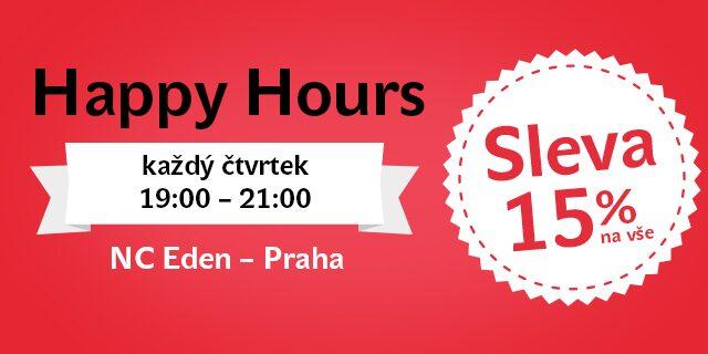 Každý čtvrtek Happy Hours v NC Eden – 15% sleva na vše