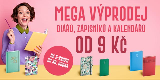 Mega výprodej diářů, zápisníků a kalendářů | CENY OD 9 KČ