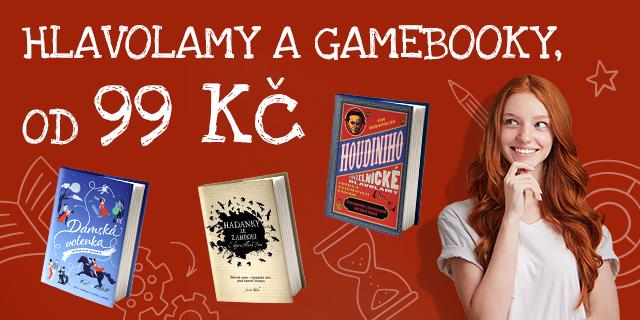 Hravé hlavolamy a gamebooky   Od 99 Kč