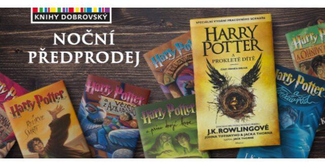 V knihkupectví Joštova Brno jsme pro vás připravili noční předprodej Harryho Pottera