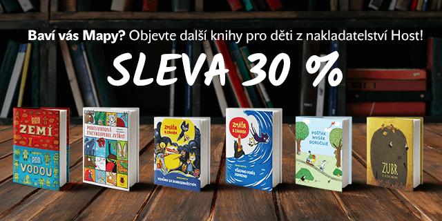 Baví vás Mapy? Objevte další knihy pro děti – NYNÍ S 30% SLEVOU!