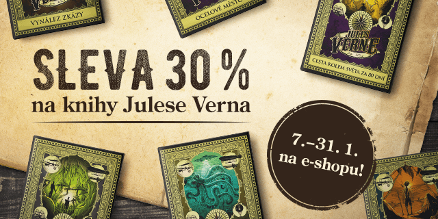 Fantastická sleva 30 % na knihy Julese Verna