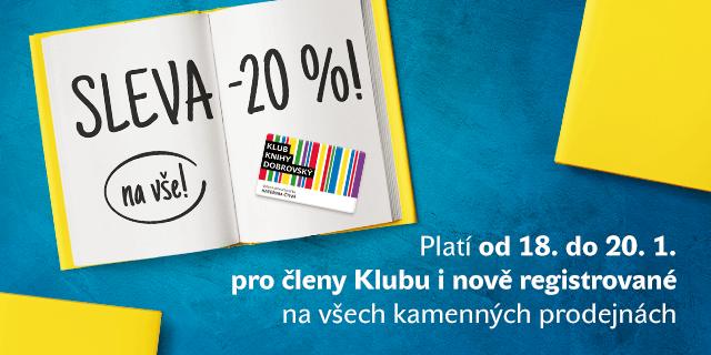 Sleva 20 % pro členy Klubu Knihy Dobrovský