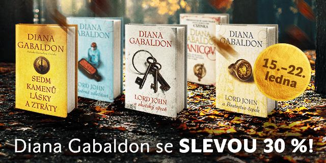 Sleva 30 % na vybrané knihy Diany Gabaldon