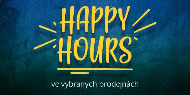 Happy Hours se slevou 20 % ve vybraných prodejnách