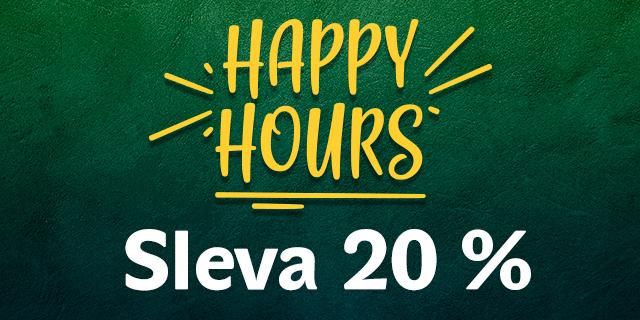 HAPPY HOURS SE SLEVOU 20 % | Karlovy Vary OC Fontána