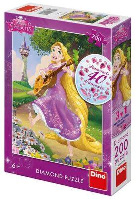 Na vlásku - Zpívající Locika: diamond puzzle 200 dílků
