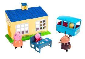 Prasátko Peppa - škola a školní autobus hrací set