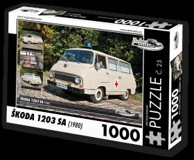 Puzzle ŠKODA 1203 SA (1980) - 1000 dílků