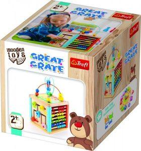 Kostka edukační dřevěná Wooden Toys v krabici