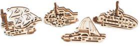Dřevěný mechanický model Lodě