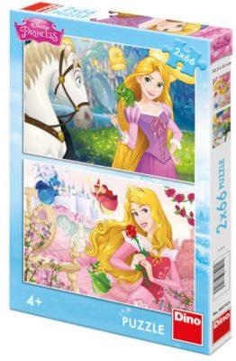 Puzzle Princezny: Portréty - 2x66 dílků - Walt Disney