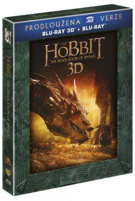 Hobit: Šmakova dračí poušť - prodloužená verze 5BD (3D+2D) - Blu-ray