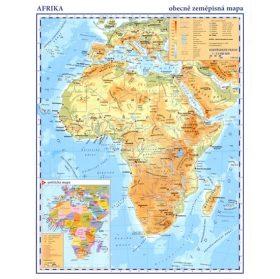 Afrika - příruční obecně zeměpisná mapa A3/1:33 mil.