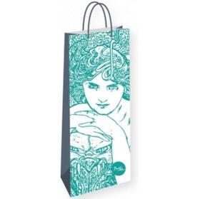 Alfons Mucha - Emerald/dárková taška na lahev