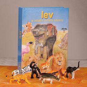 Lev a ostatní zvířata savany - Monica di Lorenzo