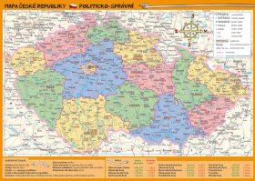 Mapa České republiky – zeměpisná a politicko-správní