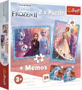 Puzzle Ledové království 2/30+48 dílků+pexeso