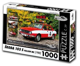 """Puzzle ŠKODA 105 S """"Follow me"""" (1980) - 1000 dílků"""