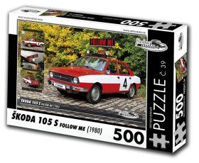"""Puzzle ŠKODA 105 S """"Follow me"""" (1980) - 500 dílků"""