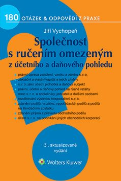 Společnost s ručením omezeným z účetního a daňového pohledu, 3. vydání - Jiří Vychopeň - e-kniha