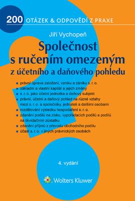 Společnost s ručením omezeným z účetního a daňového pohledu - 4. vydání - Jiří Vychopeň - e-kniha