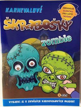Zombie - Karnevalové škrabošky